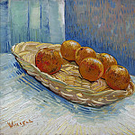 Basket and Six Oranges, Vincent van Gogh