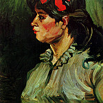 Portrait of a Woman with Red Ribbon, Vincent van Gogh