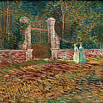 Vincent van Gogh - Entrance to the Park at Voyer-dArgenson in Asnieres