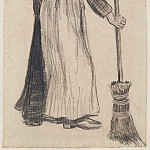Woman with a Broom, Vincent van Gogh