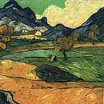 Vincent van Gogh - Le Mont Gaussier with the Mas de Saint-Paul