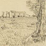 Farmhouse in a Wheat Field, Vincent van Gogh