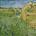 Field with Wheat Stacks, Vincent van Gogh