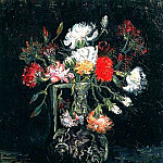 Vase with White and Red Carnations, Vincent van Gogh