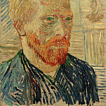 Self-Portrait with a Japanese Print, Vincent van Gogh