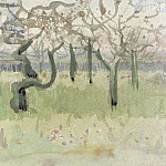 Orchard in Blossom with Two Figures