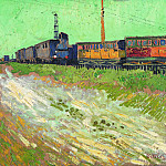 Railway Carriages, Vincent van Gogh