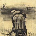 Peasant Woman Lifting Potatoes