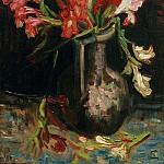 Vase with Red Gladioli, Vincent van Gogh
