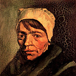 Vincent van Gogh - Head of a Peasant Woman with White Cap