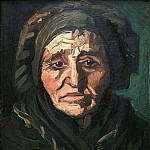 Head of a Peasant Woman with a Greenish Lace Cap, Vincent van Gogh