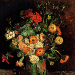 Vase with Zinnias and Geraniums, Vincent van Gogh