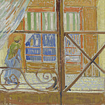 A Pork-Butchers Shop Seen from a Window, Vincent van Gogh