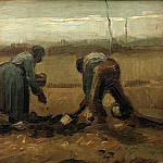 Peasants Planting Potatoes, Vincent van Gogh