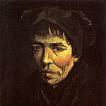 Vincent van Gogh - Head of a Peasant Woman with Dark Cap