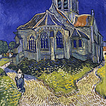 Church at Auvers, Vincent van Gogh