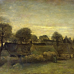Vincent van Gogh - Village at Sunset
