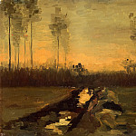 Landscape at Dusk, Vincent van Gogh