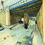 The Railway Bridge over Avenue Montmajour, Vincent van Gogh