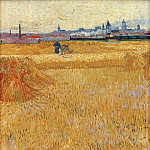 Arles View from the Wheat Fields, Vincent van Gogh