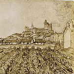 View of Saintes-Maries with Church and Ramparts, Vincent van Gogh
