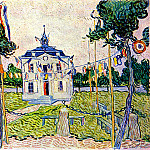 Vincent van Gogh - Auvers Town Hall in 14 July 1890