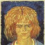 Girl with Ruffled Hair , Vincent van Gogh