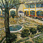 The Courtyard of the Hospital at Arles, Vincent van Gogh