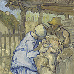 The Sheep-Shearers , Vincent van Gogh