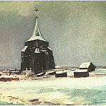 The Old Cemetery Tower at Nuenen in the Snow, Vincent van Gogh