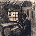 Vincent van Gogh - Woman Sewing