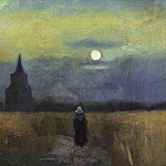 Vincent van Gogh - Old Tower at Sunset