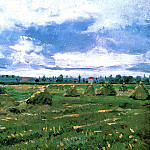 Wheat Fields with Stacks, Vincent van Gogh