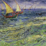 Seascape at Saintes-Maries, Vincent van Gogh