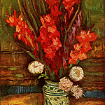 Vase with Red Gladiolas, Vincent van Gogh