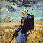 The Shepherdess , Vincent van Gogh