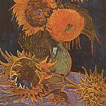 Vase with Five Sunflowers, Vincent van Gogh