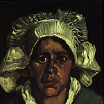 Head of a Peasant Woman with White Cap, Vincent van Gogh