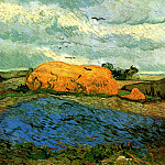 Vincent van Gogh - Haystacks under a Rainy Sky