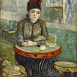 Agostina Segatori Sitting in the Cafe Tambourin, Vincent van Gogh