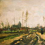 Landscape with Church and Farms, Vincent van Gogh