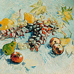 Still Life with Apples, Pears, Lemons and Grapes, Vincent van Gogh