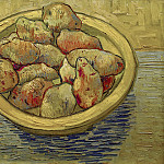 Still Life Potatoes in a Yellow Dish