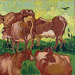 Vincent van Gogh - Cows (after Jorsaens)