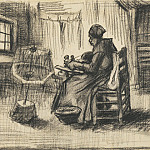 Vincent van Gogh - WOMAN REELING YARN