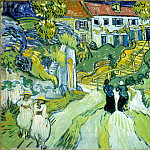 Vincent van Gogh - Street and Steps in Auvers with Figures