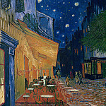Vincent van Gogh - Cafe Terrace in Arles at Night