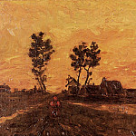 Landscape at Sunset, Vincent van Gogh