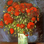 Vase with Red Poppies, Vincent van Gogh