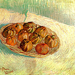 Still Life with Basket of Apples , Vincent van Gogh